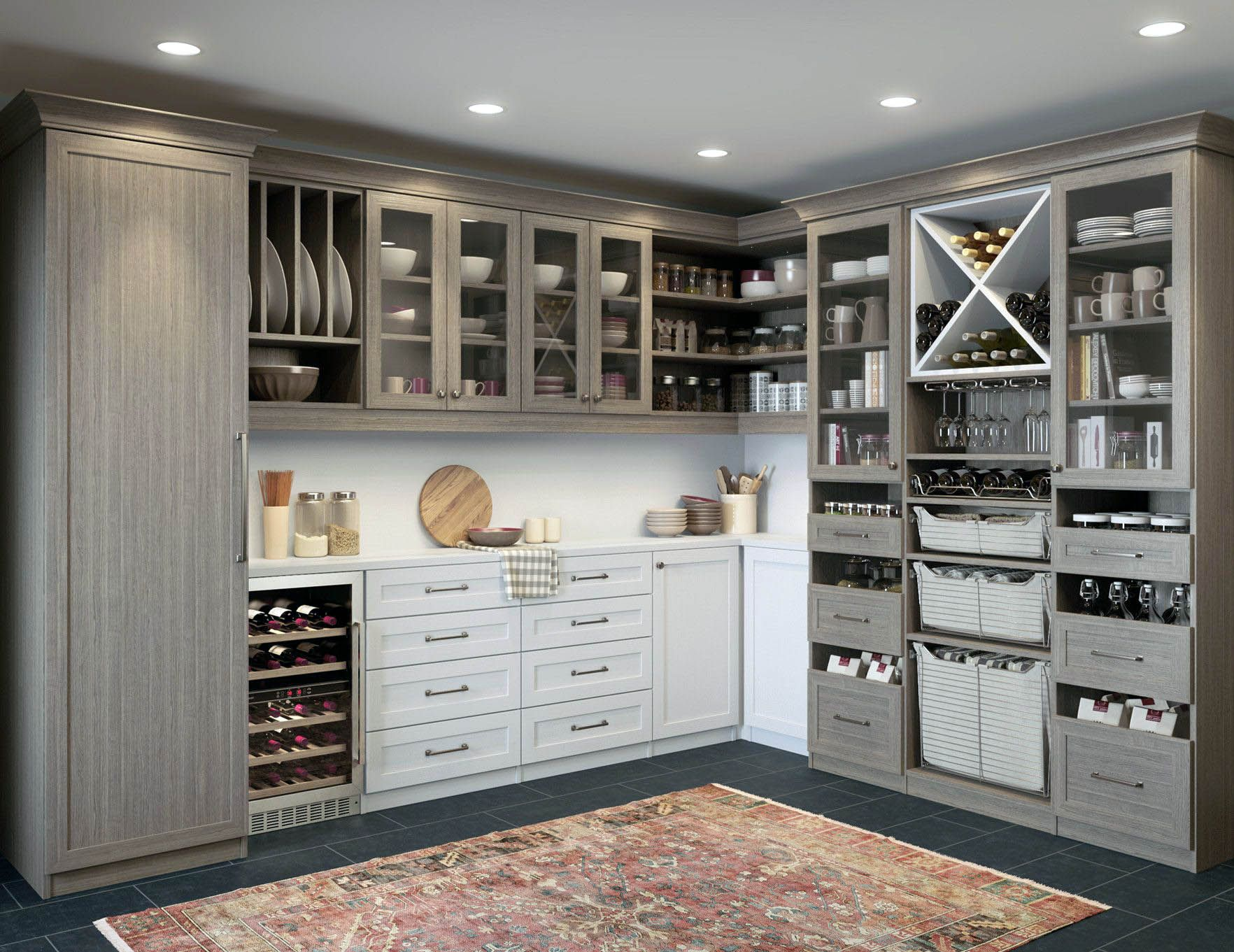 Cozy Kitchen Pantry Storage Cabinet Broom Closet For Your Home Custom Kitchen Cabinets Design California Closets Custom Kitchen Cabinets