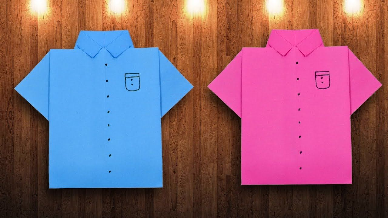 Paper Shirt Making Diy Origami How To Make A Shirt With Color
