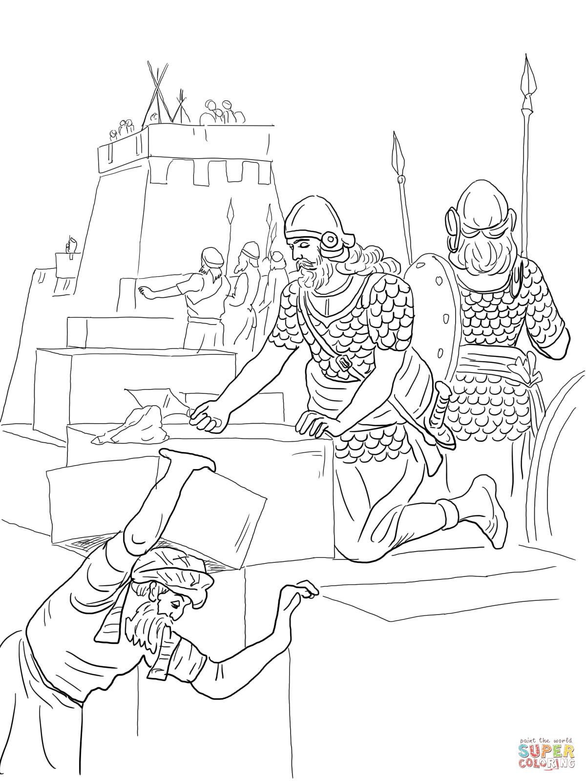 Nehemiah Coloring Pages | KNIT | Pinterest