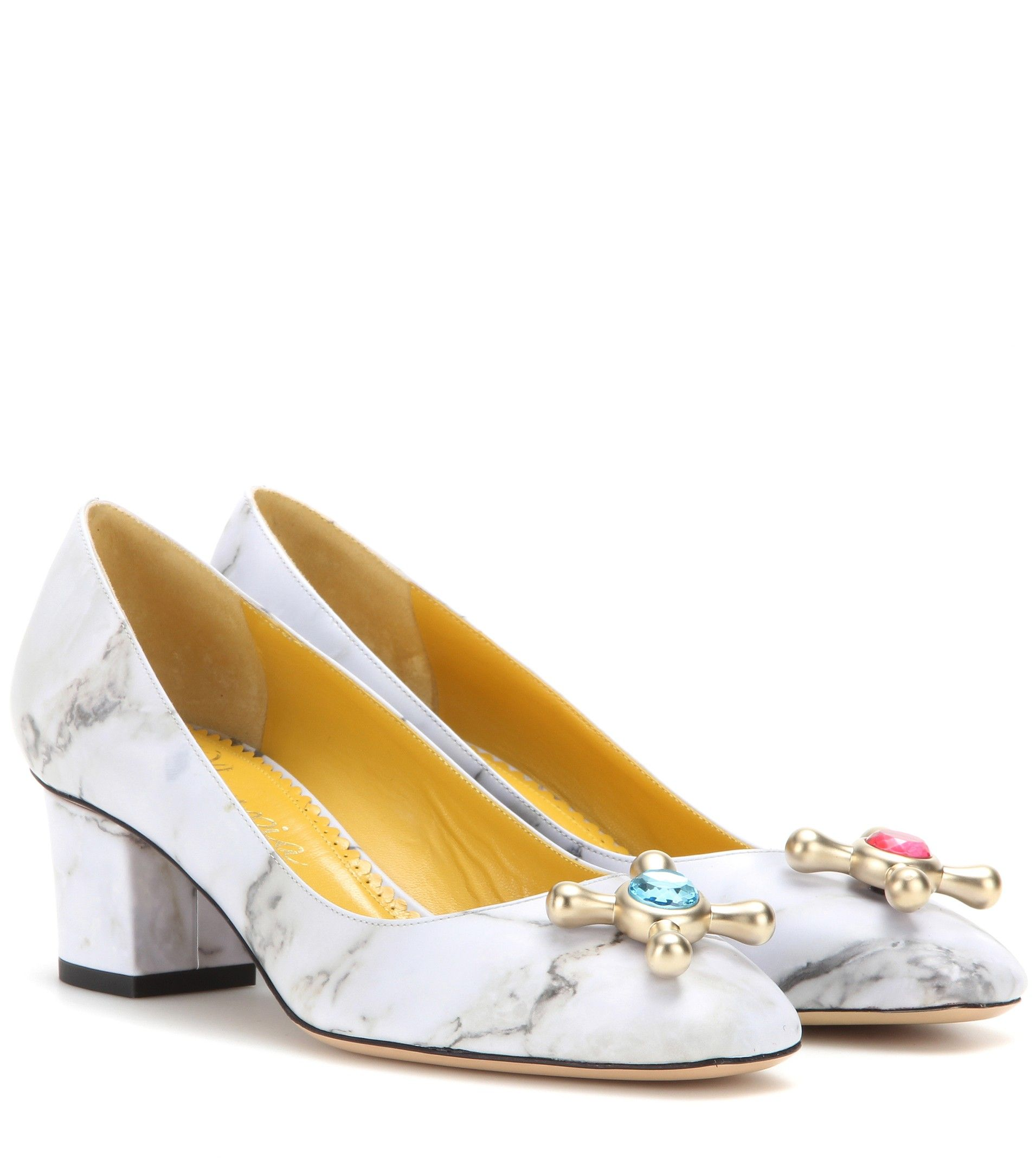 b31d2e19a mytheresa.com - Oprah Embellished Leather Pumps ¦ Charlotte Olympia ∇  mytheresa - Luxury Fashion