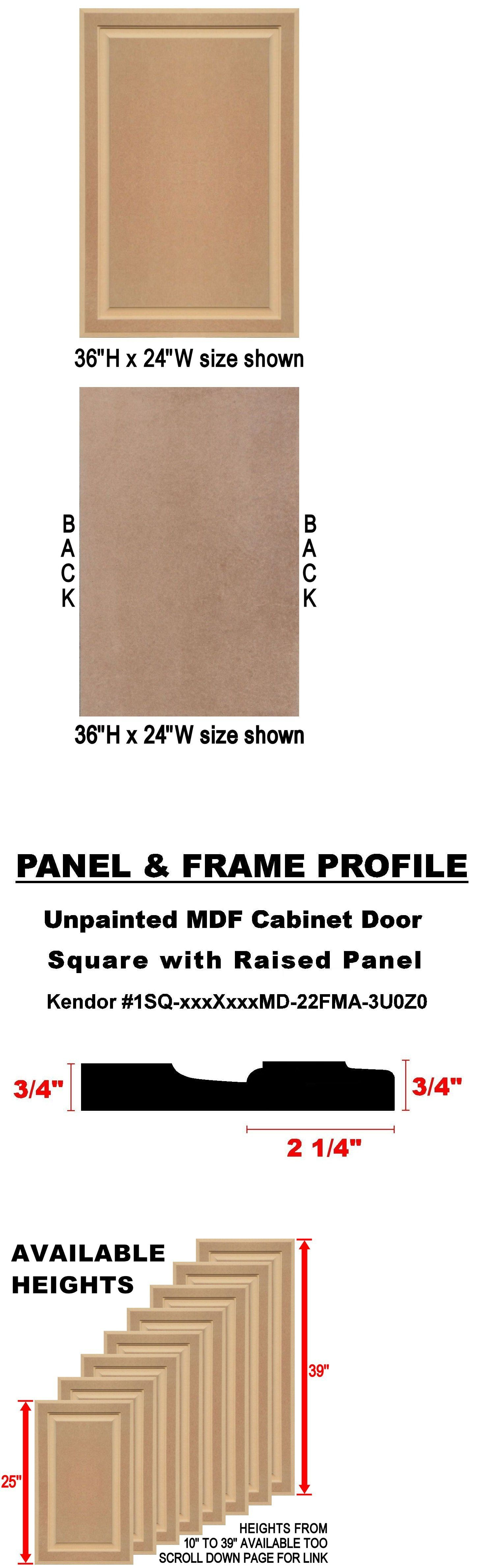 Cabinets 85879: Unfinished Mdf Cabinet Doors, Square With Raised ...