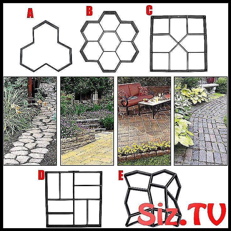 Photo of New Hot Garden DIY Plastic Path Maker Pavement Model Concrete Stepping Stone Cem…