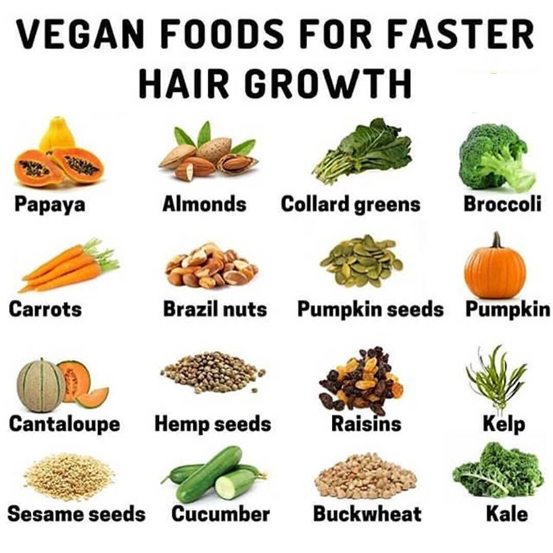 """DIY Cosmetics on Instagram: """"Vegan Foods For Faster Hair Growth The first thing to do for hair growth is to eat fruit. Fruits have many vitamins and beneficial…"""""""