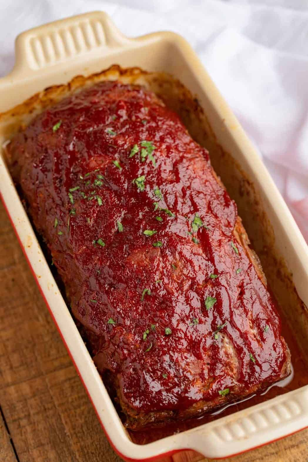 Classic Beef Meatloaf that's tender, juicy, easy to make