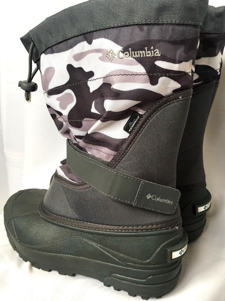 8400bf987ce2 COLUMBIA Boys Youth size 5 37 Camo POWDERBUG Insulated Snow Boots Rated -25  F  Columbia  SnowBoots