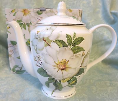 Magnolia Fine Bone China 6 Cup Teapot Imported from England Gift Boxed