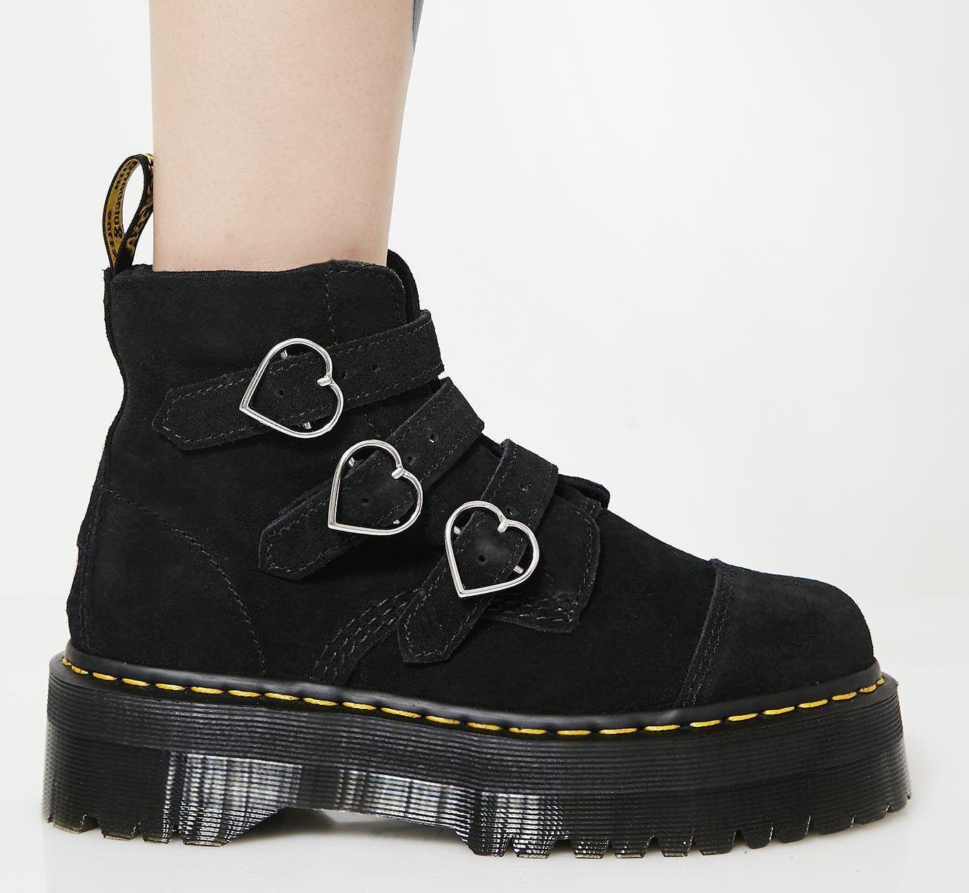 Dr. Martens Black Buckle Boots - Women
