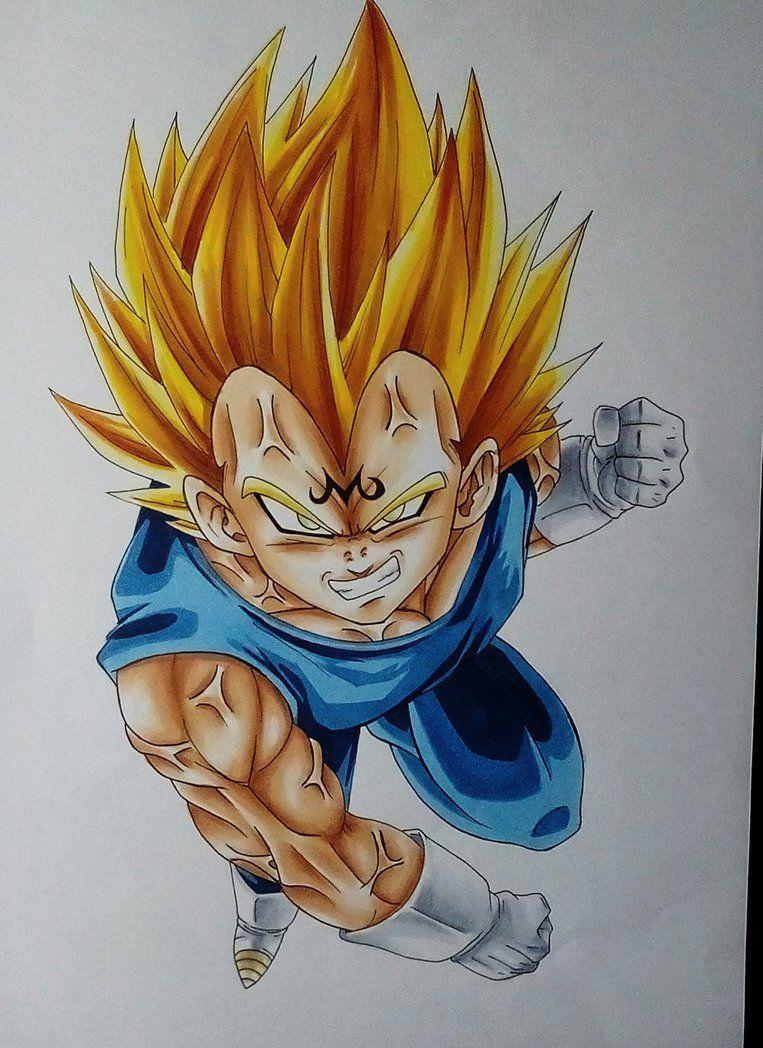 Majin Vegeta By Pandaroszeogon Dragon Ball Artwork Dragon Ball Art Dragon Ball Wallpapers