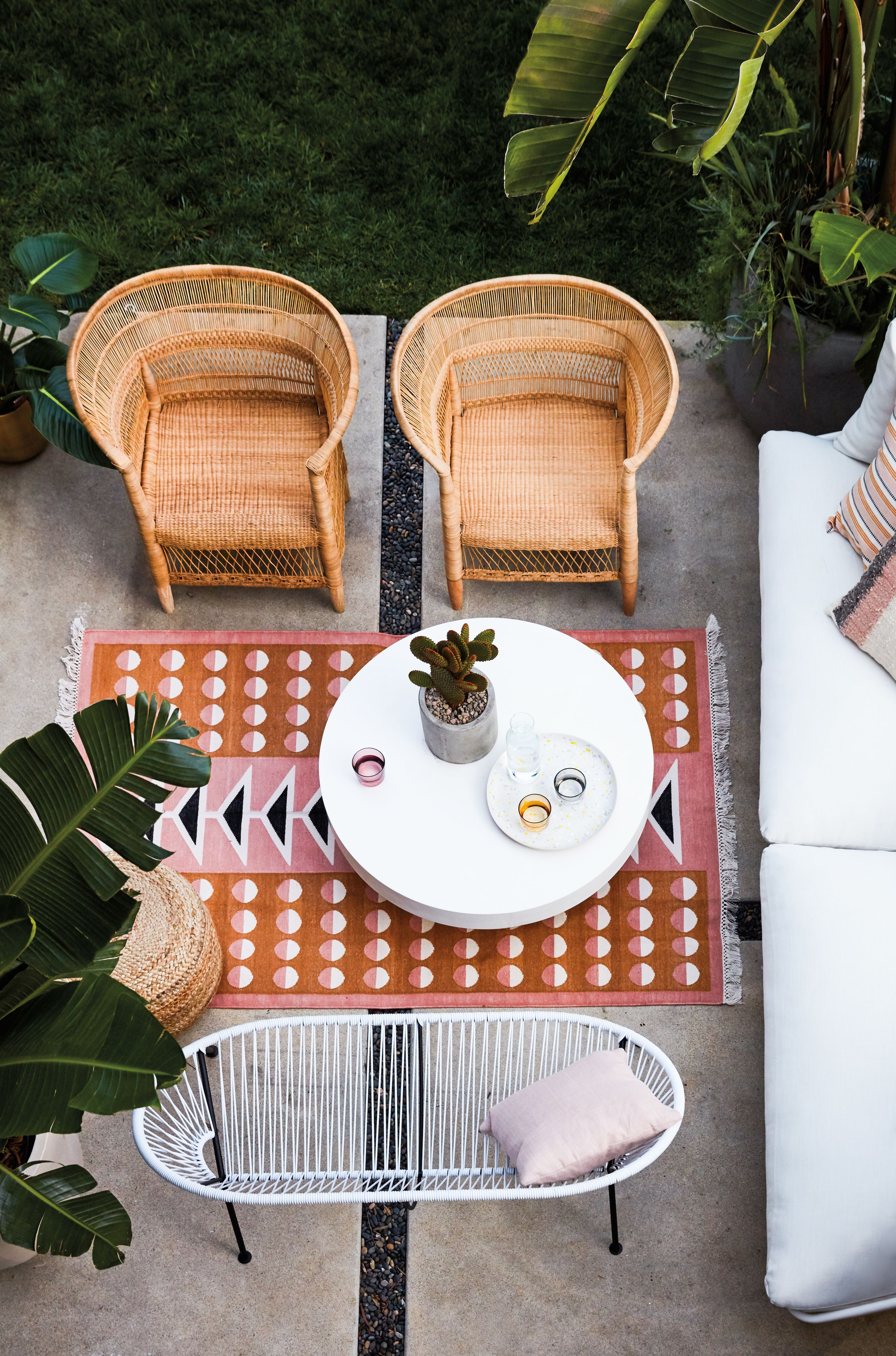 Garance Dore Modern Los Angeles Home Tour Patio Inspiration Bohemian Patio Decor