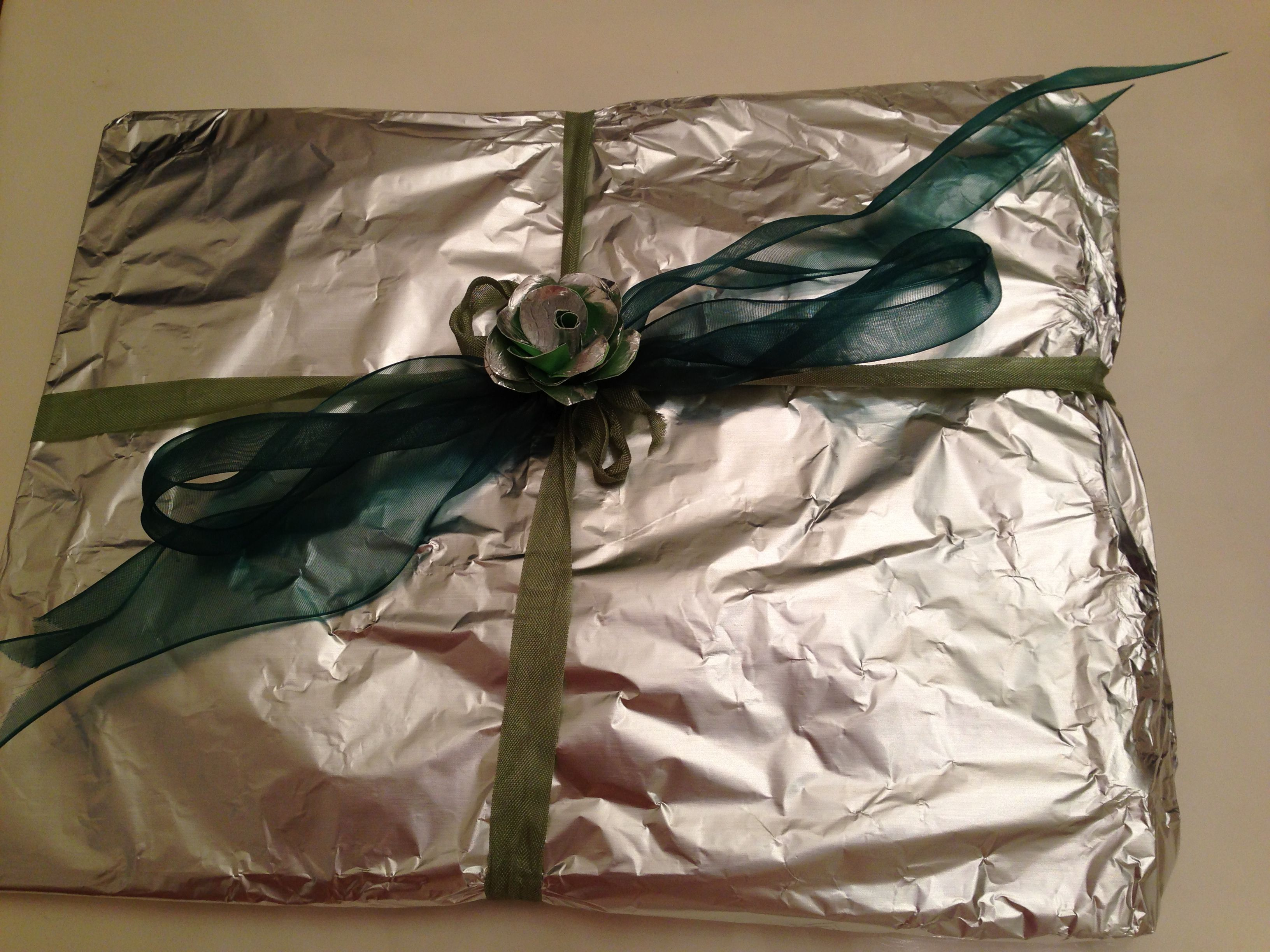 Tenth Anniversary Is The Tin Or Aluminum I Wrapped Gift In