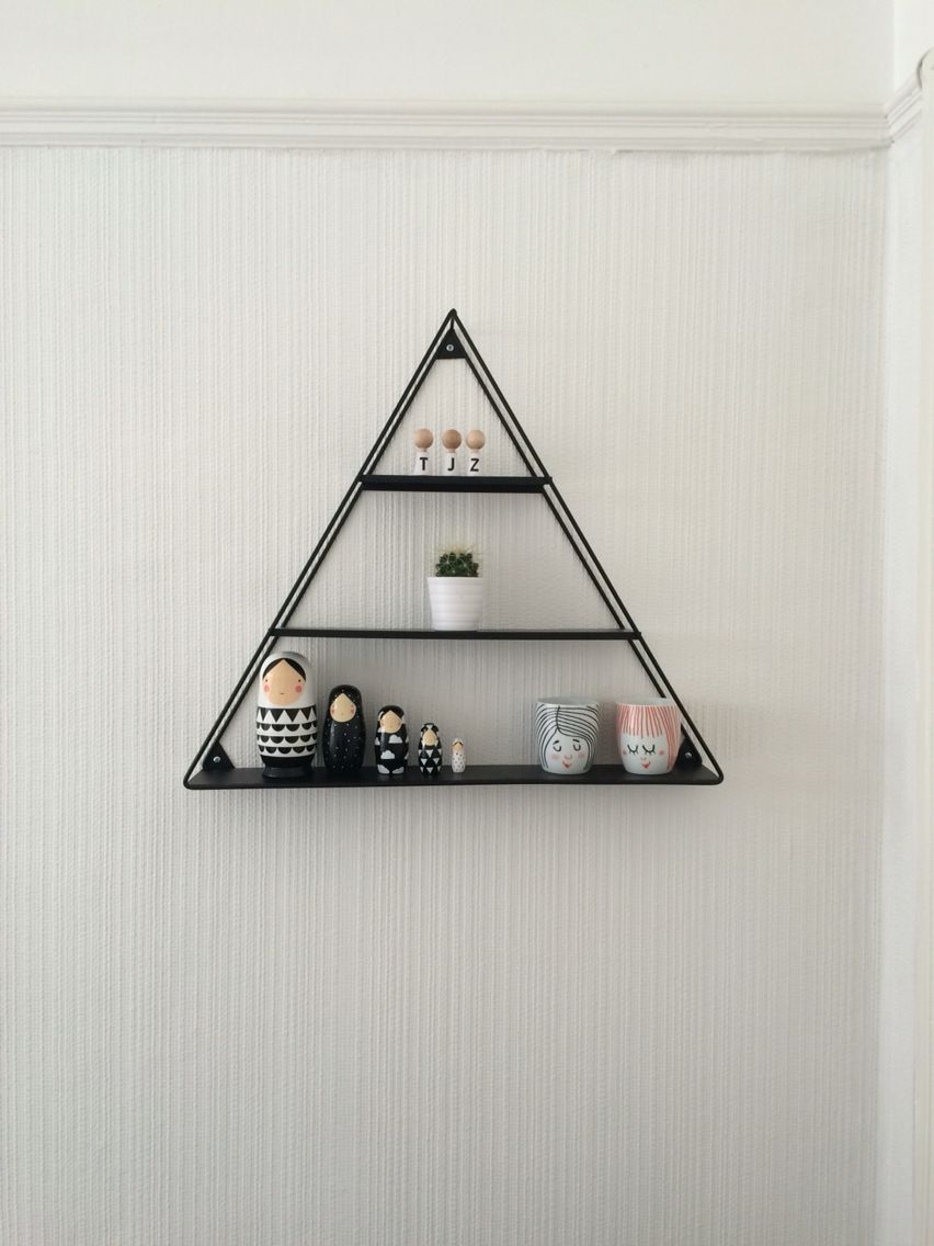 Triangle Shelf from Flying Tiger   den   Pinterest   Triangle shelf ...