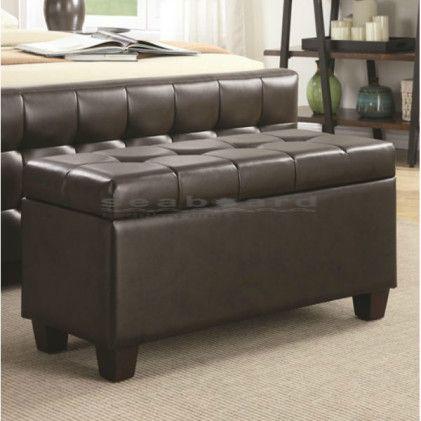 leather storage bench ikea