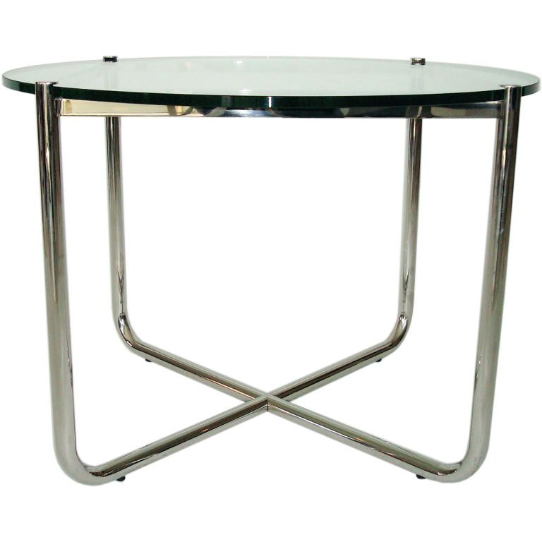International Style Mr Side Table By Mies Van Der Rohe For Knoll