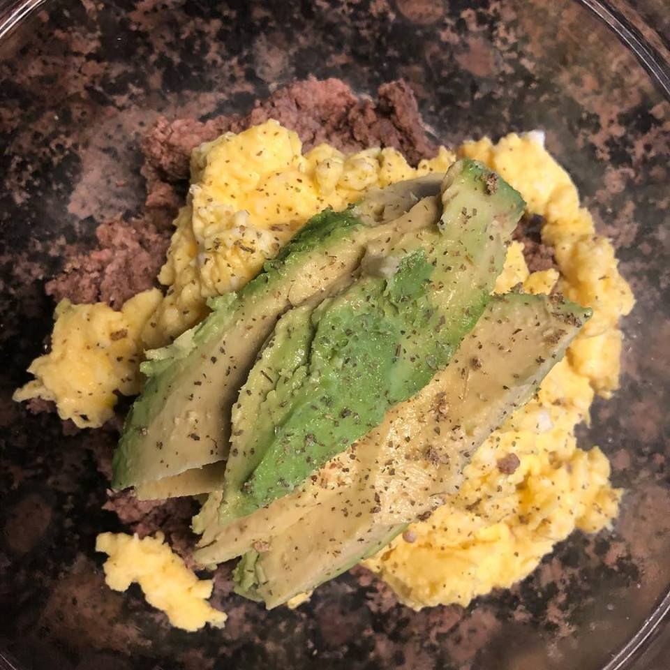 Ground Beef Scrambled Egg Avocado Garlic Salt Food Recipes Ground Beef