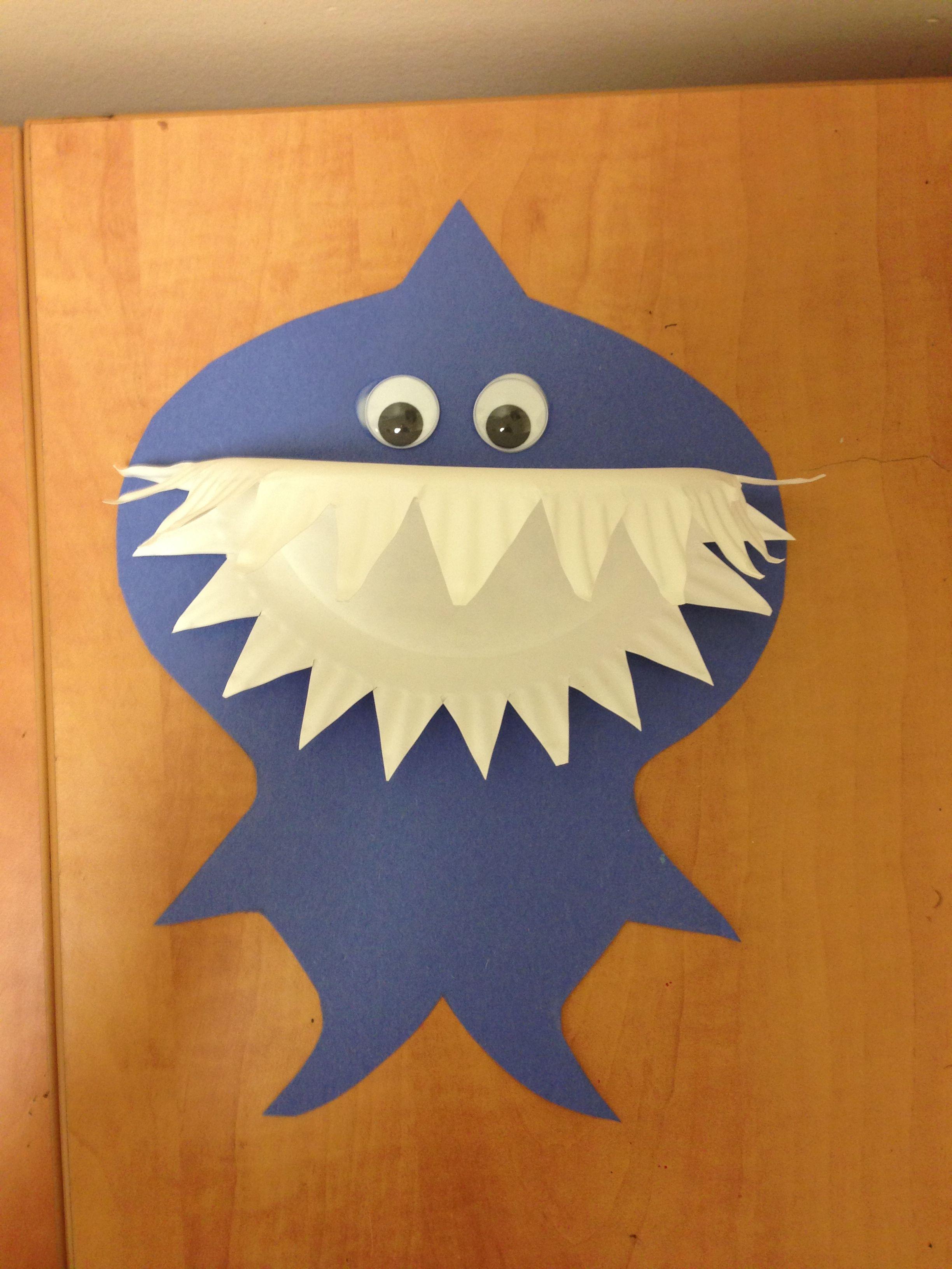 Preschool Paper Plate Shark Craft
