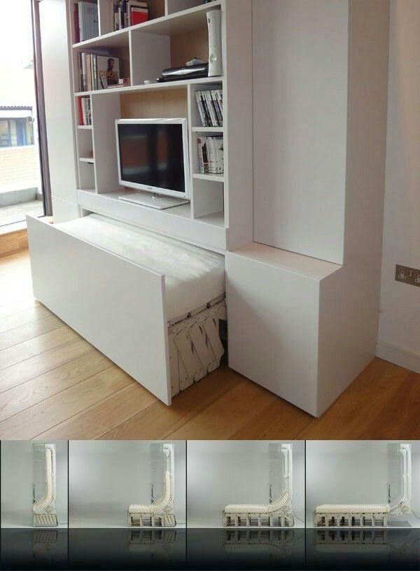 Fernsehschrank Mit Bett Betten Fur Kleine Raume Schlafzimmer Wandregale Platzsparende Betten