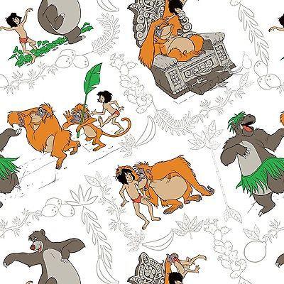Disney Fabric - The Jungle Book - I Wanna Be Like You - 100% Cotton