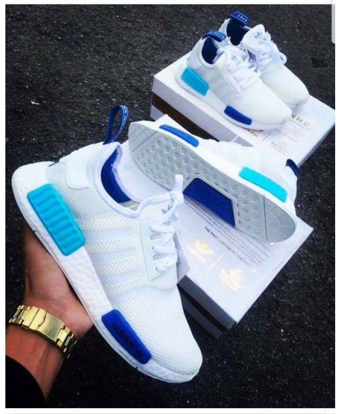 adidas white and blue nmd- OFF 53