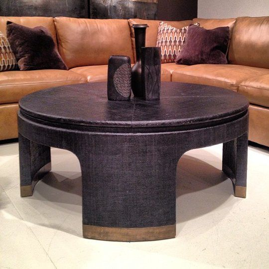 Black Painted Linen Finish Table At Bernhardt U2014 High Point Spring Market  2013 | High Point, Linens And Room