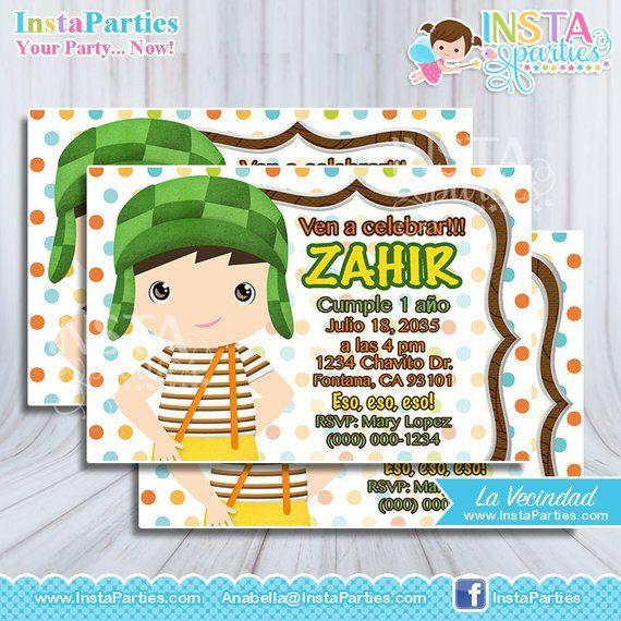El Chavo Animado Invitations Del 8 Party Ocho Invites De El