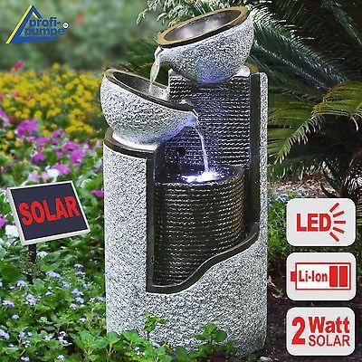 Fuente solar fuente de agua solar fuente decoraci n - Fuente solar jardin ...