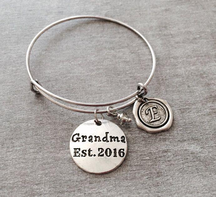 Grandma Est 2017 Silver Charm Bracelet Gift Jewelry