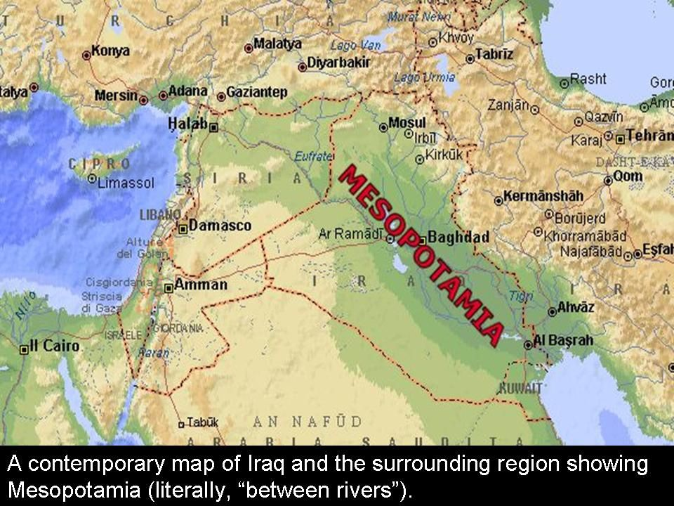 map showing where SumeriaMesopotamia was located Ancient
