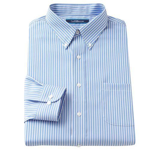 Croft And Barrow Striped Button-Down Collar Dress Shirt $55.00