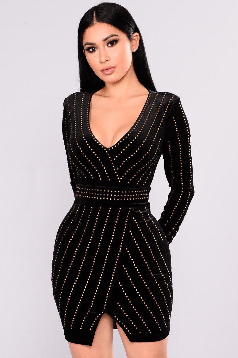 stars rhinestone dress blackgold fashion nova wants