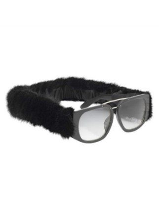 0c625172d2 Now this is one kind of facial hair we d be happy to have. Alexander Wang  mink-trimmed sunglasses