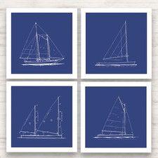 Sailboat blueprint framed graphic art nautical decor pinterest sailboat blueprint framed graphic art malvernweather Images