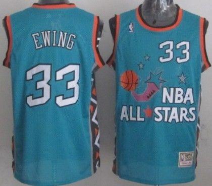 NBA 1996 All-Star  33 Patrick Ewing Green Swingman Throwback Jersey ... 1ec9508d1