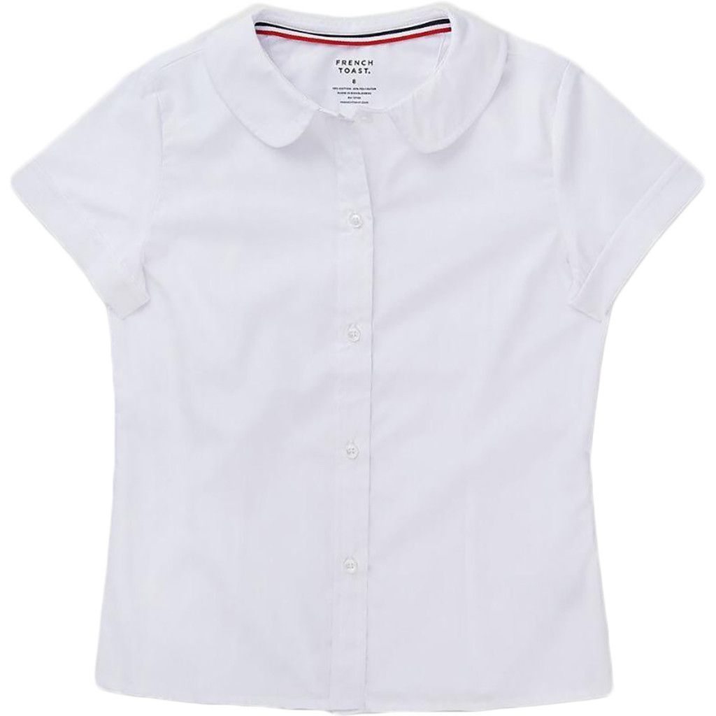 Bienzoe Big Girl/'s School Uniforms Oxford Long Puff Sleeve Blouse