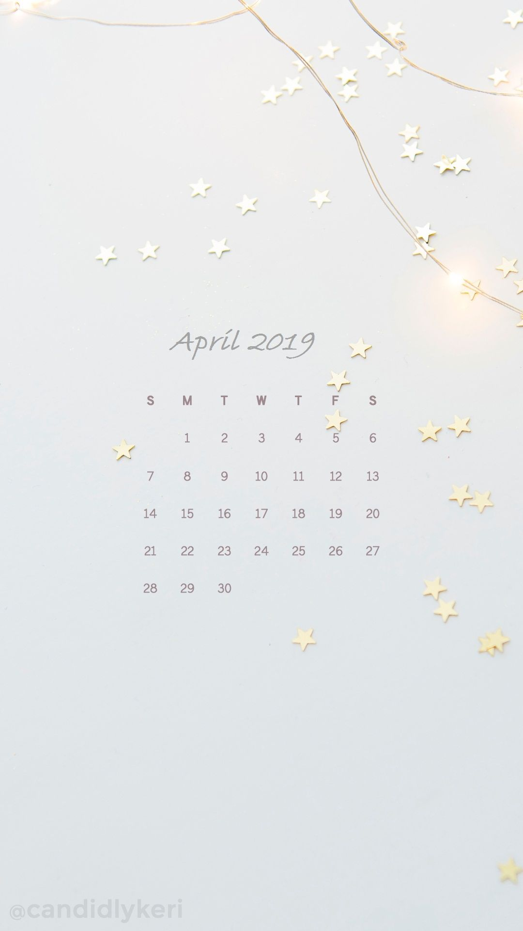 April Iphone Calendar Wallpaper Calendar April