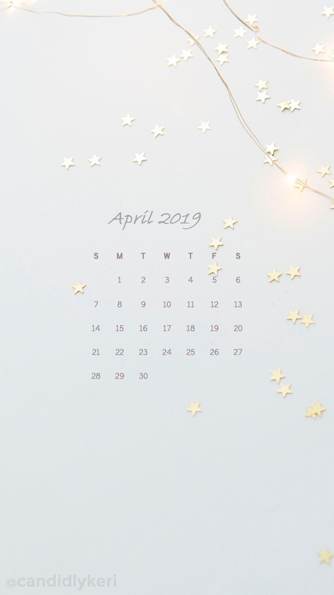 April Iphone Calendar Wallpaper Calendar April