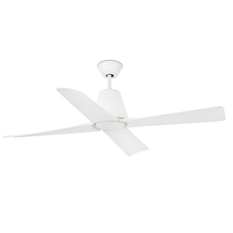 Ventilador de techo Feroe blanco, con luz de Faro 33600
