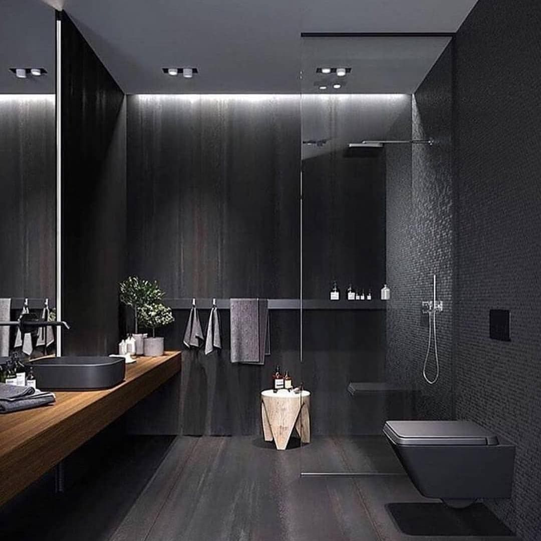 P A D On Instagram Moody Bathroom Styling Would You Love A Dark Bathroom Like This Or D Modern Bathroom Design Modern Bathroom Bathroom Decor Apartment