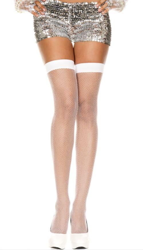 0a8419107b058 Music Legs 4900 White Fishnet Thigh High Sexy Lingerie Rave Costume Hosiery  #MusicLegs #ThighHighs