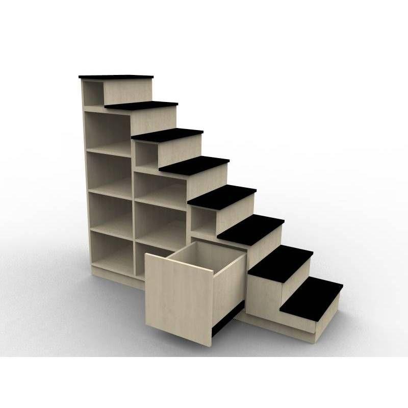 escalier pour lit mezzanine cgmrotterdam. Black Bedroom Furniture Sets. Home Design Ideas