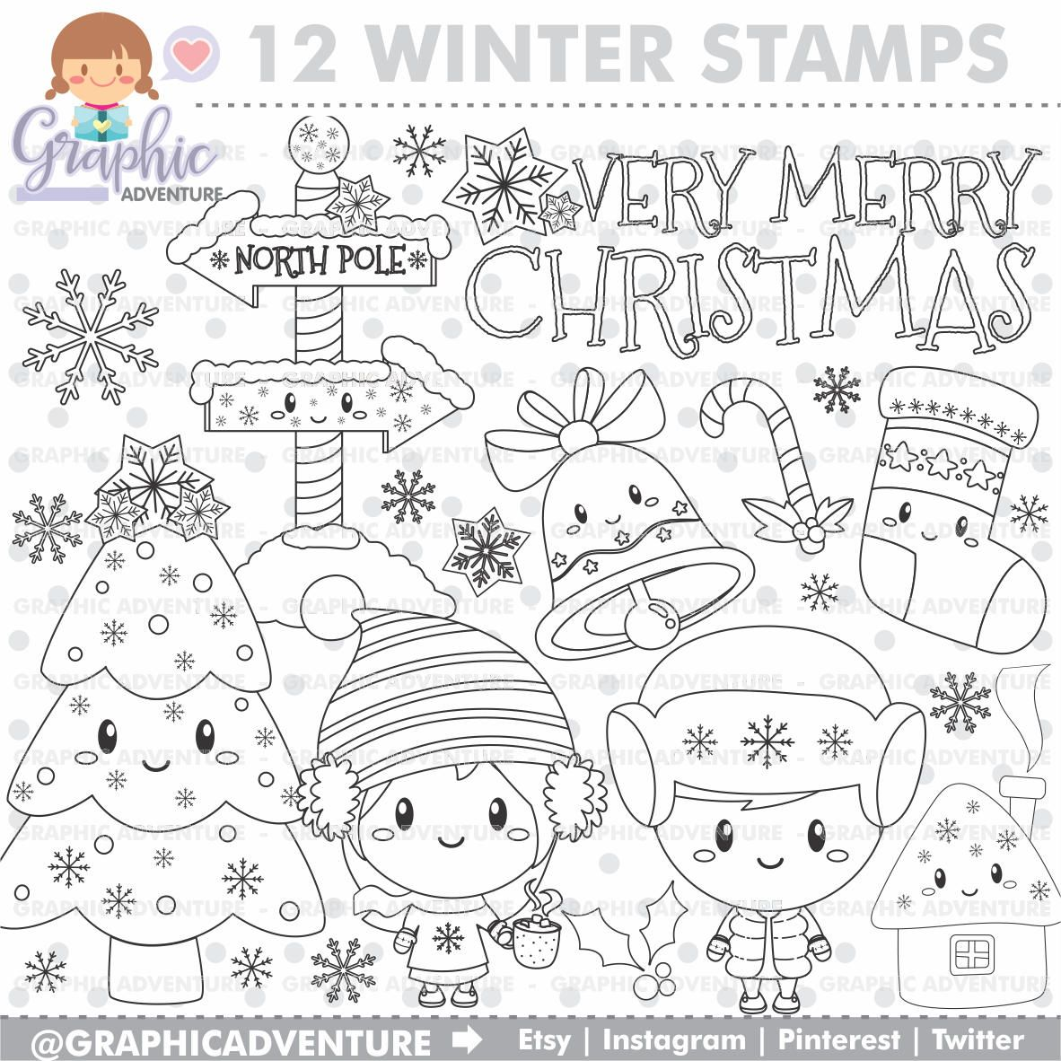 Off christmas stamp winter stamp very merry christmas