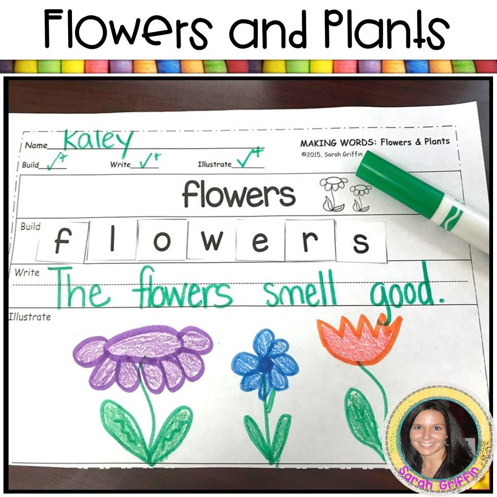 Flowers And Plants Writing Activity For Kids Writing Activities Kids Writing Activities Kindergarten Writing [ 1008 x 1008 Pixel ]