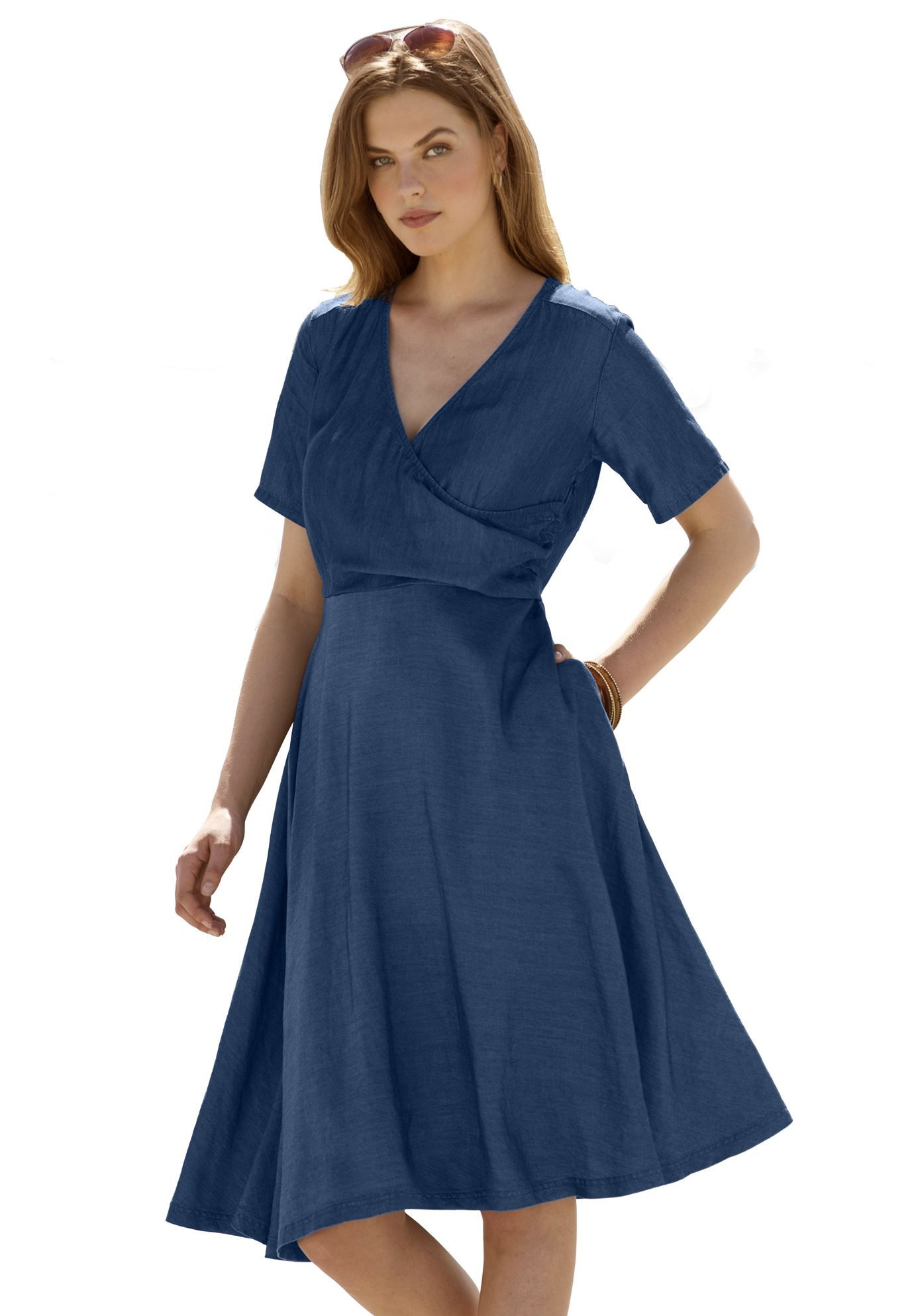 754aba9adf4 Faux Wrap Denim Dress - Gomes Weine AG