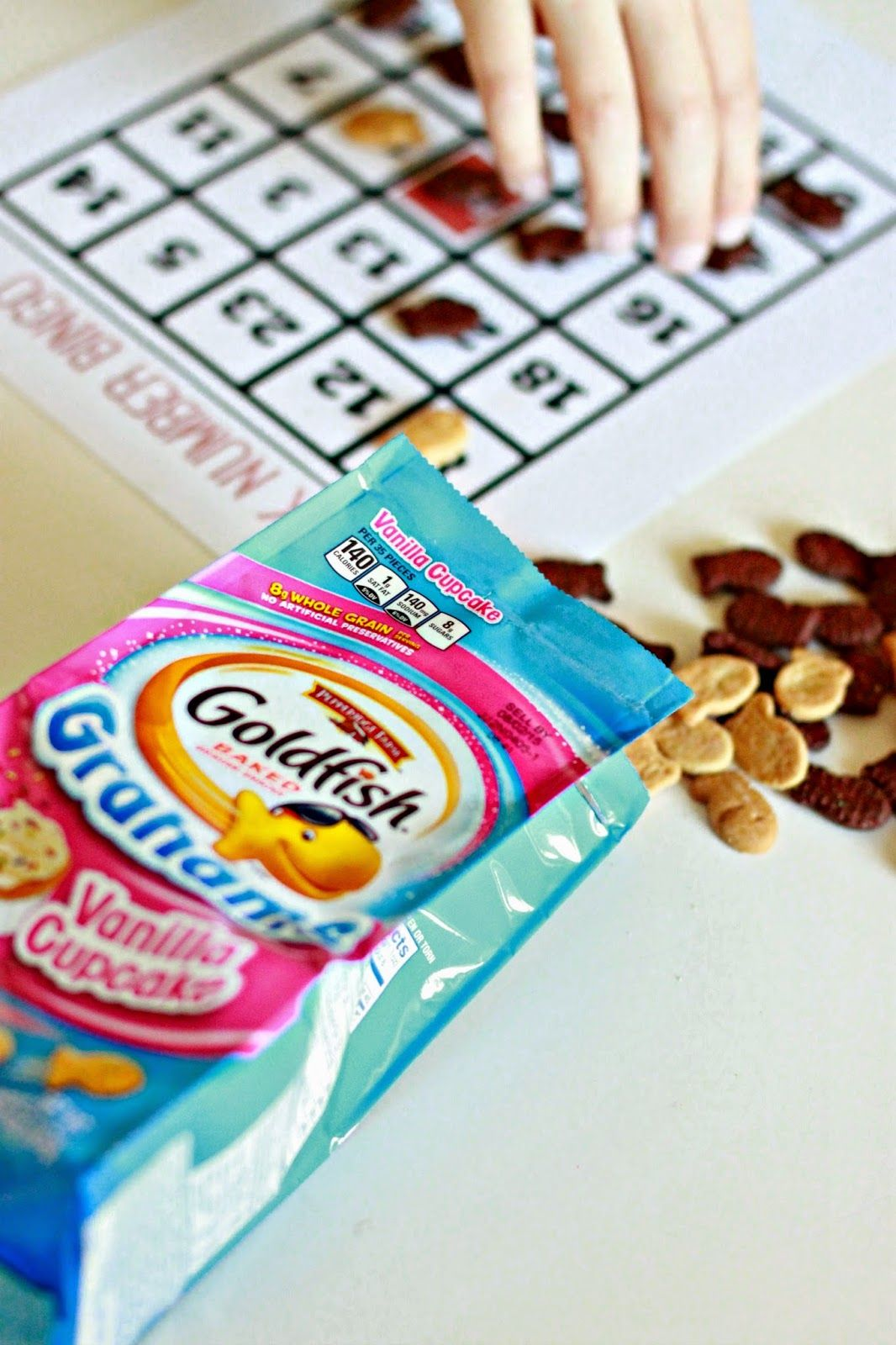 Just Another Day in Paradise Goldfish Snack Math Sheets