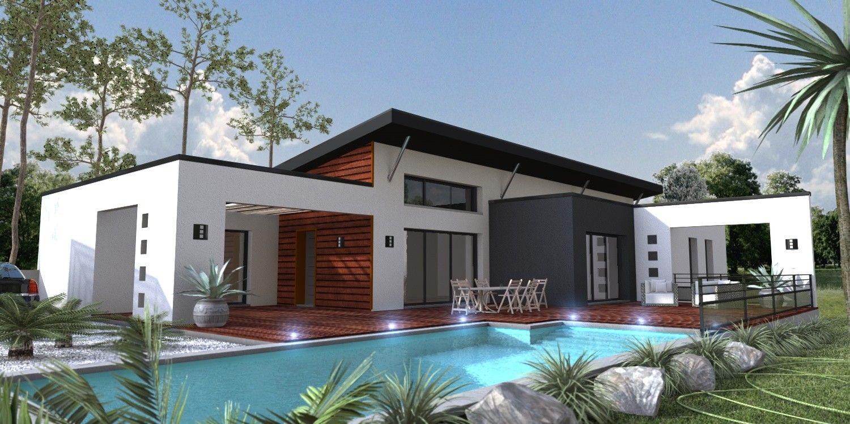 Maison moderne Le Cellier 44 | Plan maison | Pinterest | Villas ...