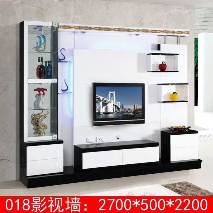 Living Room Corner Lcd Tv Stand Wooden Furniture 018 Modern
