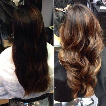 partial balayage before and after , Google Search