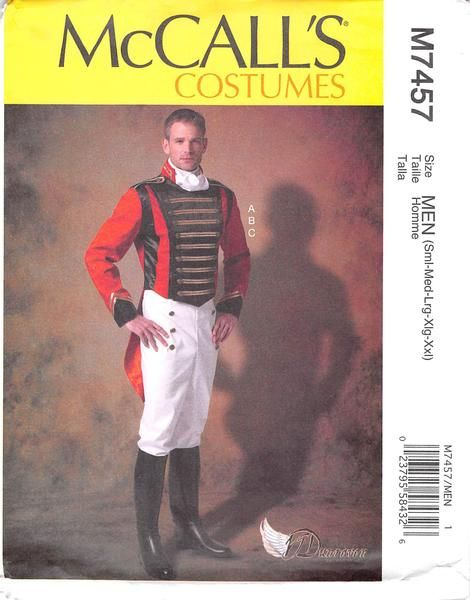 M7457 Sewing Pattern Costume Men Historical Military Uniform