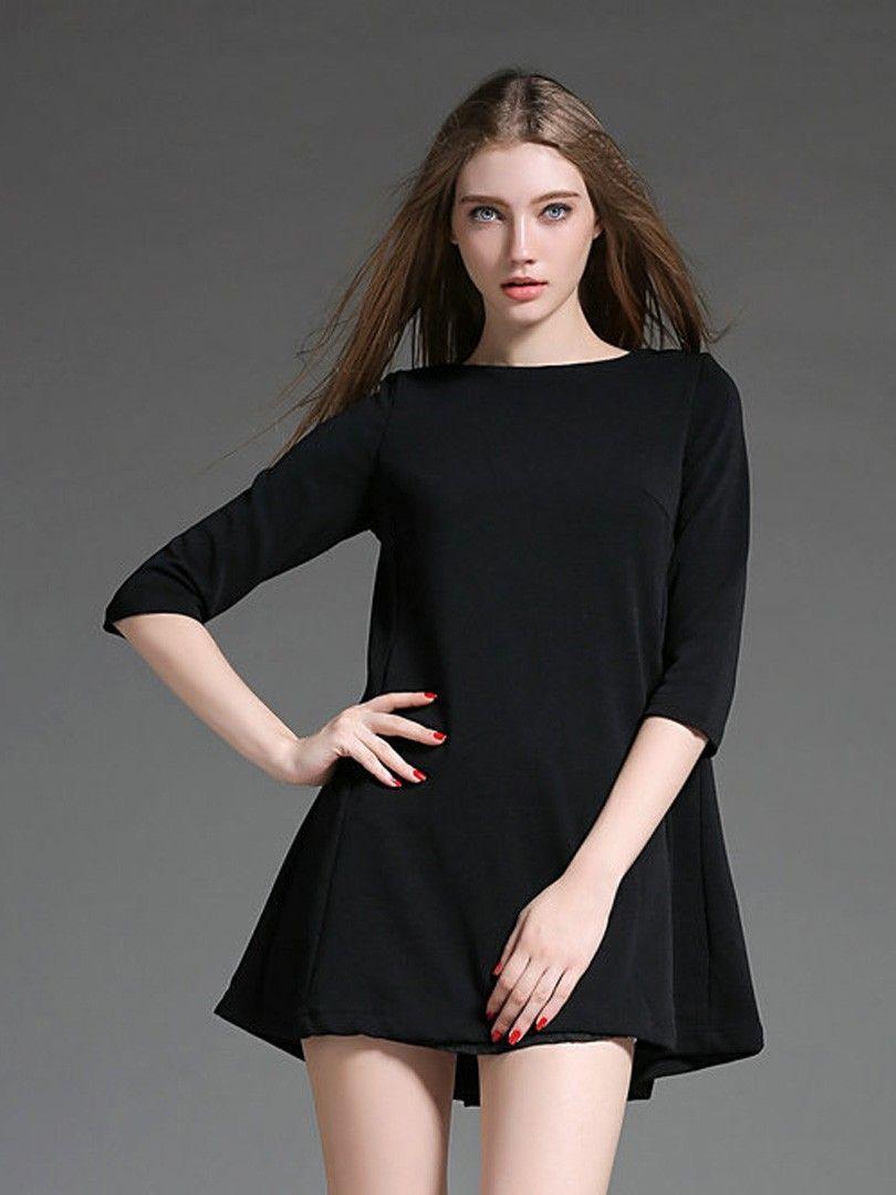 Blacktie back sleevealinemini dress clothes pinterest