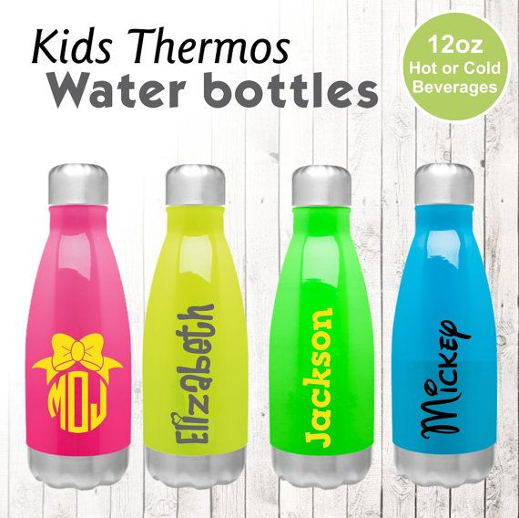 b84071d41e26 Stainless Steel Water Bottle for Kids by ItsyBitsyWear on Etsy. Super cute  mini