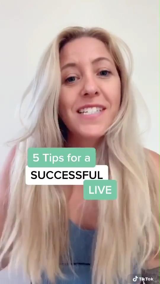 5 Easy Tiktok Live Stream Tips And Ideas Video Small Business Marketing Tips Social Media